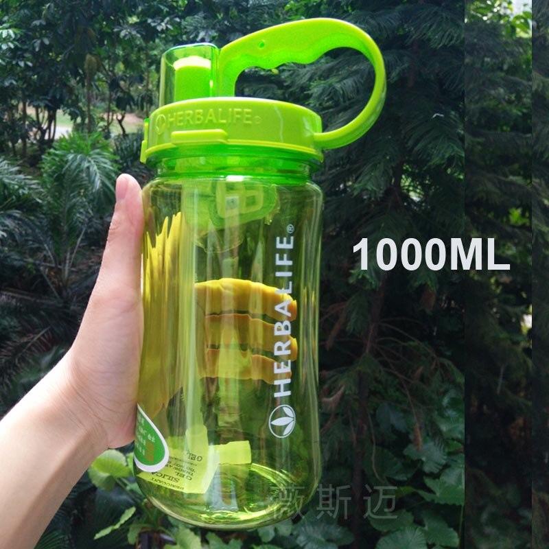 الجملة 6 قطعة lL/2 LLarge قدرة هرباليفي العلامة التجارية 1000 مللي المياه زجاجة مانعة للتسرب البلاستيك الفضاء مع حزام القش الموردين-في زجاجات مياه من المنزل والحديقة على  مجموعة 2