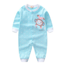 2017 Newborn Baby Girl Spring Rompers Long Sleeve Romper For Baby Boy Cotton unisex baby rompers newborn baby clothes(China)