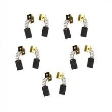 5 пар угольных щеток 6,4x7,9x12,5 мм 596071-00 для электродвигателей Black Decker CD105 CD110 CD115 KG900
