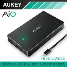 AUKEY Batería 20000 mAh Banco de Alimentación Externa Portátil Móvil Estación de Carga Dual USB Para el iphone, tabletas y Teléfonos Inteligentes