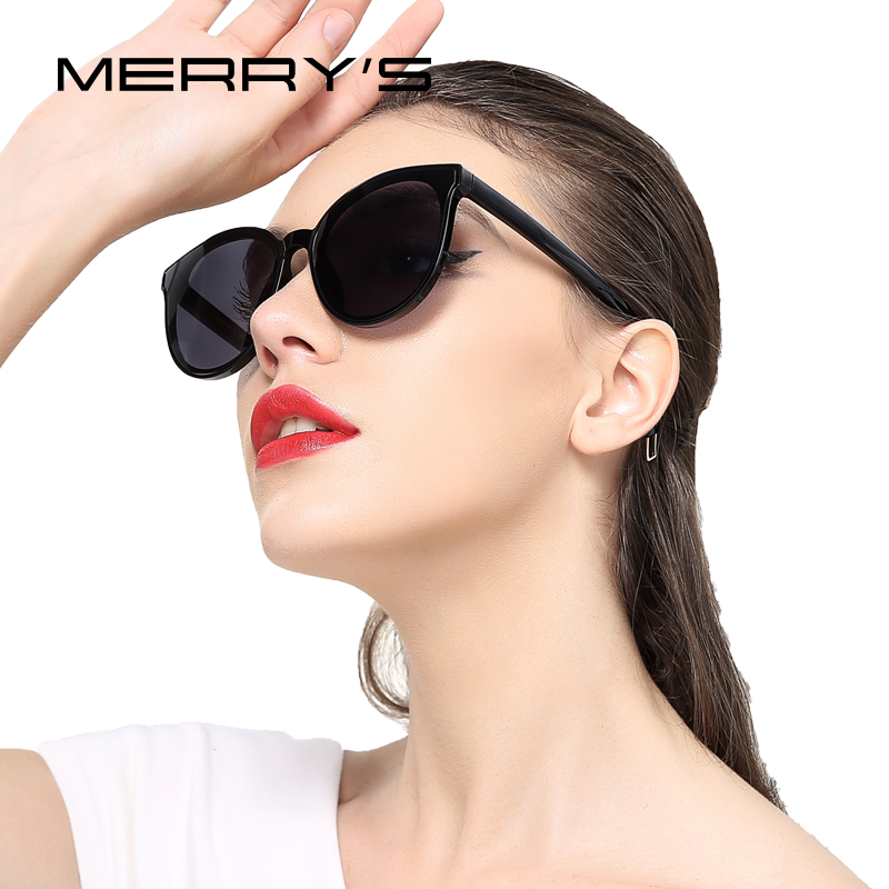 Merrys mulheres clássico marca designer cat eye sunglasses s8094