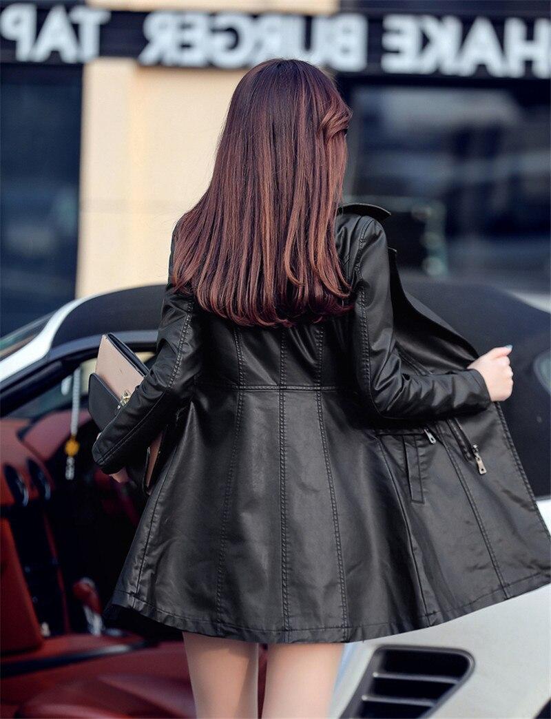 Faux Pu Blouson Automne Printemps Pour Haute Cuir Femme Black Veste Manteau Al751 Jaqueta En Femmes Qualité Teaegg wxn1CqI48n