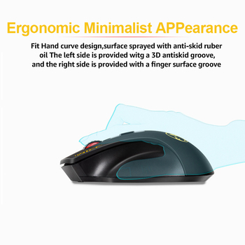 2.4GHz Wireless USB mouse 2000DPI Adjustable USB 3.0 Receiver Ergonomic Mice For Laptop PC 3