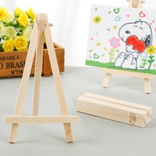 10pcs 8*15cm Mini Artist Wooden Easel Wood Wedding Table Card Name Card  Stand Display Holder For Party Decoration DIY