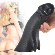 Elastic Silicone Dildo Double Penetration Penis Replica Curved Passion Stimulation Products for Adult Women , Black