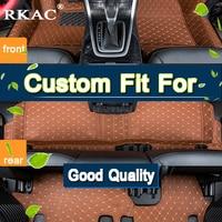RKAC Car Accessories Styling Custom Foot Mats 3D Luxury Leather Car Floor Mats Fits For KIA Grand Carnival 7 Seats 2017 2018