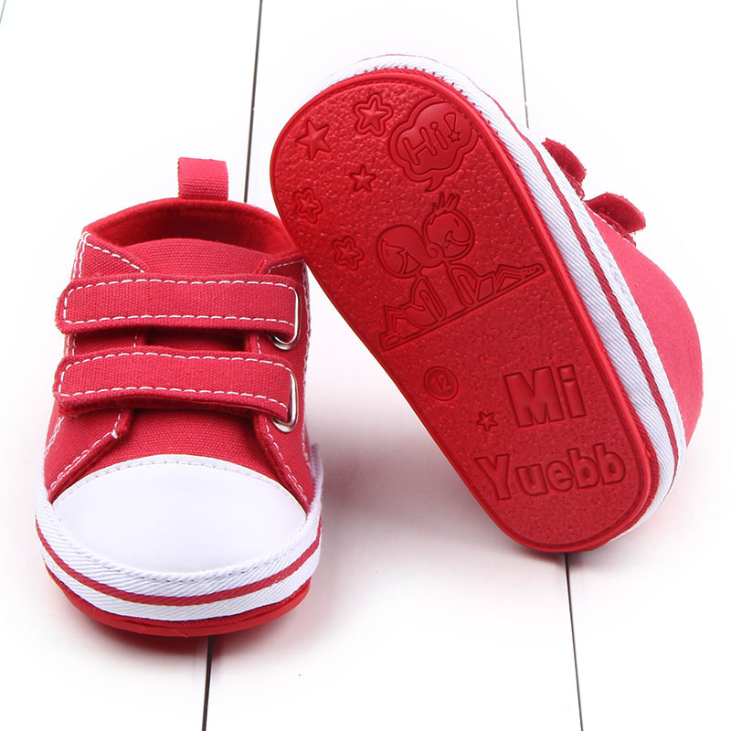 Autumn new baby canvas shoes rubber sole Infant Newborn Baby Girls First Walkers Sneakers sport Shoes Anti-skid 0-18M