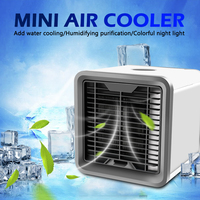 Summer USB Mini Air Conditioner Humidifier Purifier 7 Colors Light Desktop Air Cooling Fan Air Cooler Fan for Office Home