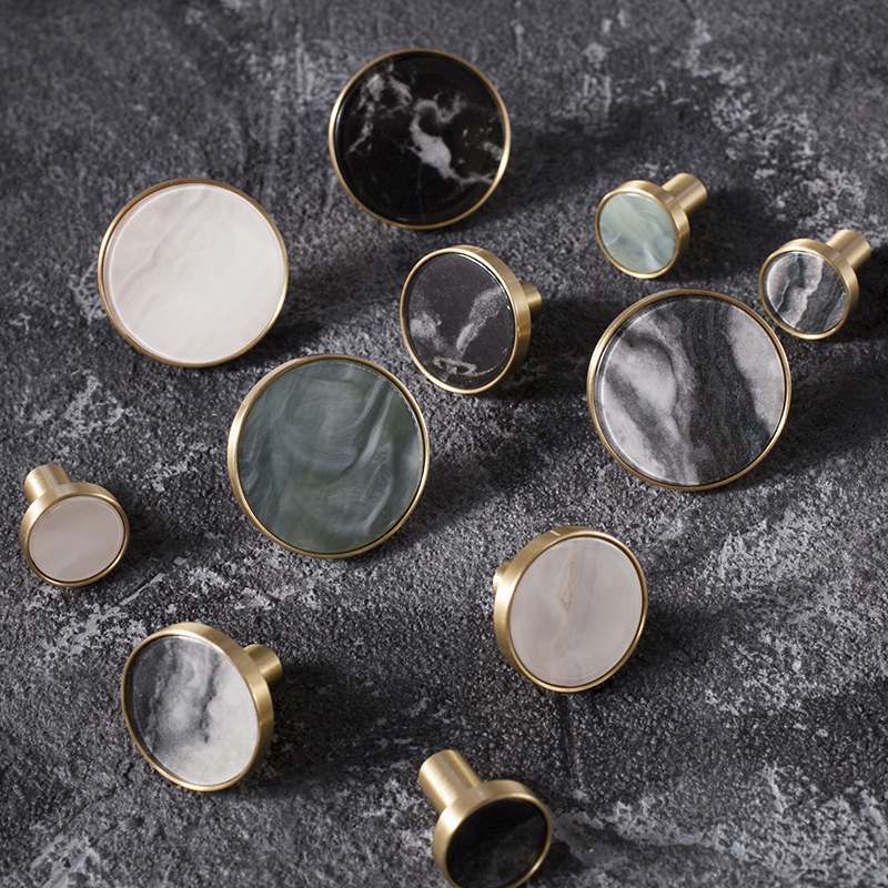 Marble pattern brass knob Dresser Drawer Knobs Pulls Handles / Cupboard Knobs Furniture Cabinet Handle Pull Hardware cute birds ceramic knobs dresser knob drawer pulls handles cupboard pulls knob pink green kids cabinet knob furniture home decor