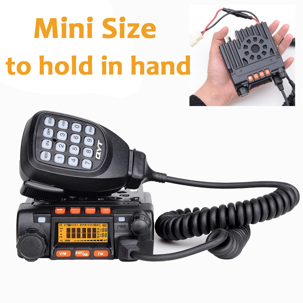 QYT KT-8900 25 W di Alto potere Mini Mobile DUAL BAND Two Way Radio KT8900 Long Range Veicolo Walkie TalkieQYT KT-8900 25 W di Alto potere Mini Mobile DUAL BAND Two Way Radio KT8900 Long Range Veicolo Walkie Talkie