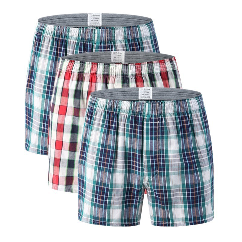 Men's Underwear Boxers Loose Shorts Men's Panties Cotton Soft Large Arrow Pants At Home Underwear Classic Mid-waist Boxer Men