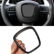 Хромированный abs украшение рулевого колеса, эмблема, логотип, рамка, наклейка, аксессуары для Audi A6 C6 A5 A4 B6 B7 B8 A3 S3 8P Q7 Q5