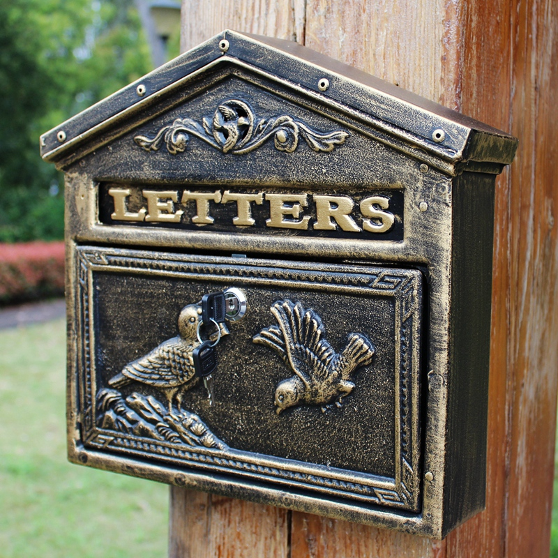 Pony Express Comment Box Mailbox Reproduction Victorian Style Mail Antique Letter Vintage Wall Mount Cast Iron Postbox