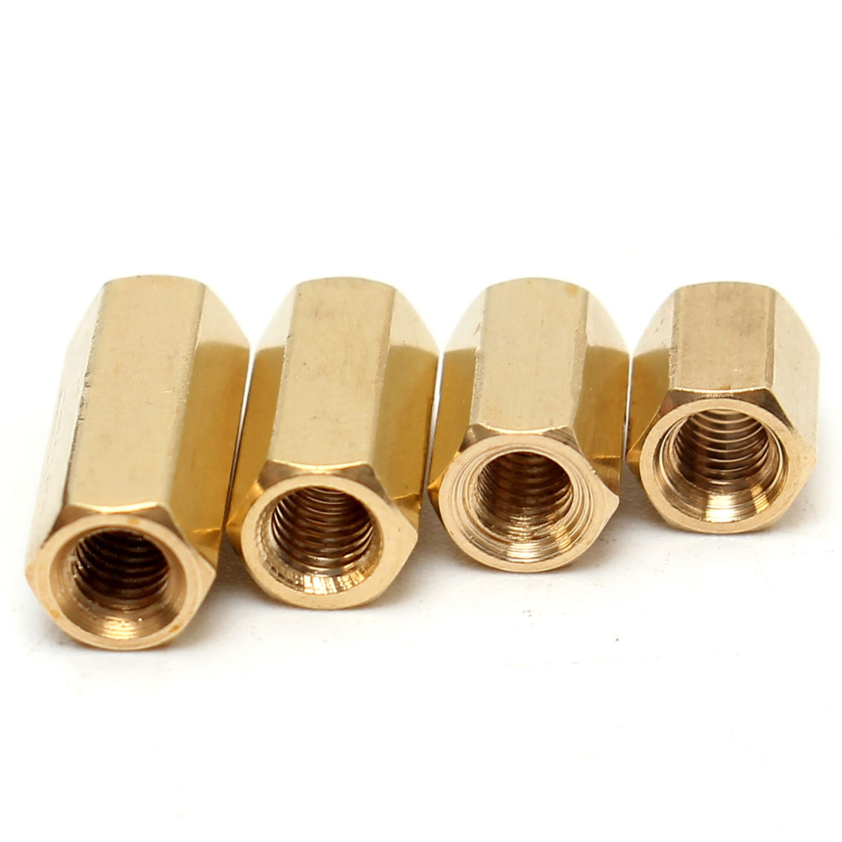 40Pcs Brass Hexagonal Female Nut <font><b>M3</b></font> <font><b>x</b></font> <font><b>12mm</b></font> Female Nut Bolts PCB Board Standoff/Spacer image
