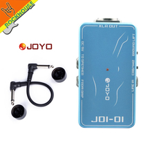 JOYO JDI-01 DI Box guitar effect pedal connect to console joyo jdi 01 di box with amp simulation with ground lift switch mooer pc s pedal connector guitar effect pedal