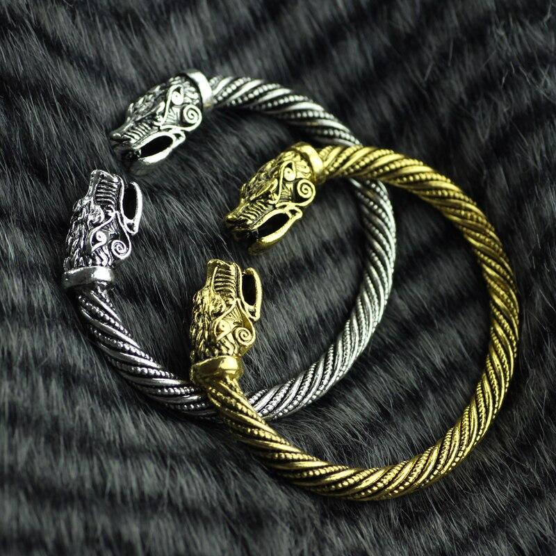 2ae98a6be1a7 Envío de la gota Viking pulsera cabeza de Metal serpiente pulsera accesorios  masculinos Viking pulsera hombres pulsera joyería de moda