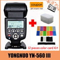 Yongnuo YN-560III YN-560 iii Ю. Н. 560 III 2.4 ГГц Беспроводная Вспышка speedlite Для Canon Nikon Бесплатная Доставка с