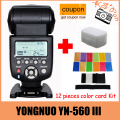 Yongnuo YN-560III YN-560 iii YN 560 III 2.4GHz Wireless Trigger Speedlite Flash For Canon Nikon Free Shipping with
