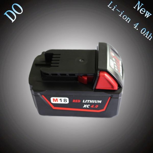 Nouveau 18 V Lithium Ion 4000 mAh Remplacement Rechargeable Power Tool Batterie pour Milwaukee M18 XC 48-11-1815 M18B2 M18B4 M18BX Li18