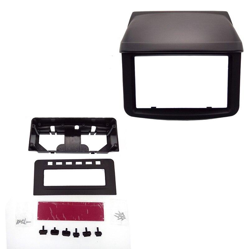 Top Double 2 Din Car Surround Panel fascia for Mitsubishi Pajero Sport Triton L200 with MID Radio Refitting Dash Mounting Kit