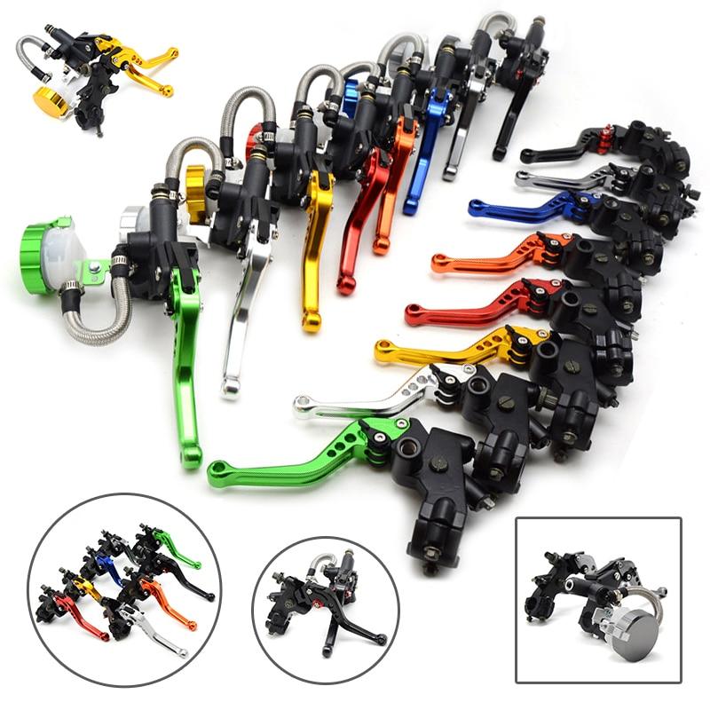 Universal motorcycle brake clutch pump master cylinder lever handle For Yamaha Kawasaki Suzuki Honda ducati bmw for all sports