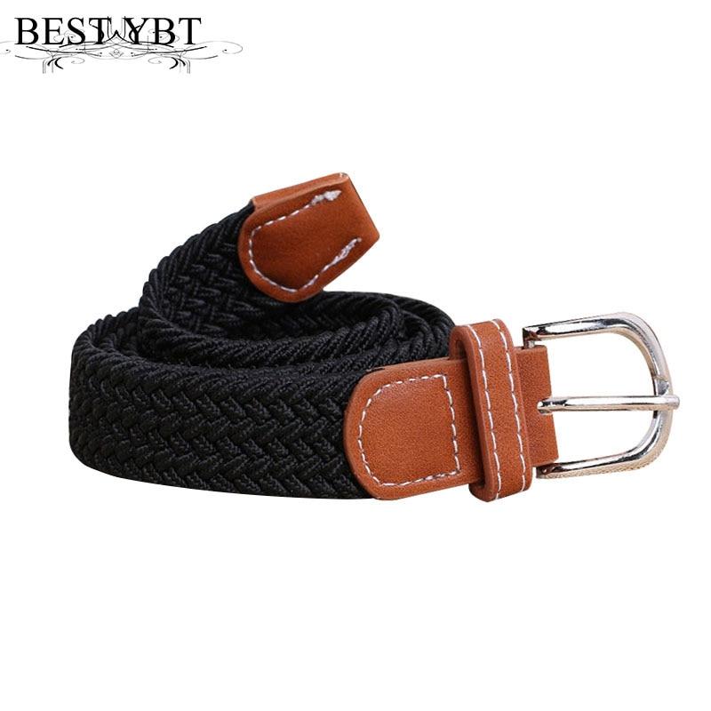 Best YBt Unisex Canvas Belt  children Alloy pin buckle belt fashion casual elasticity girls and boys fin canvas  childre Belt