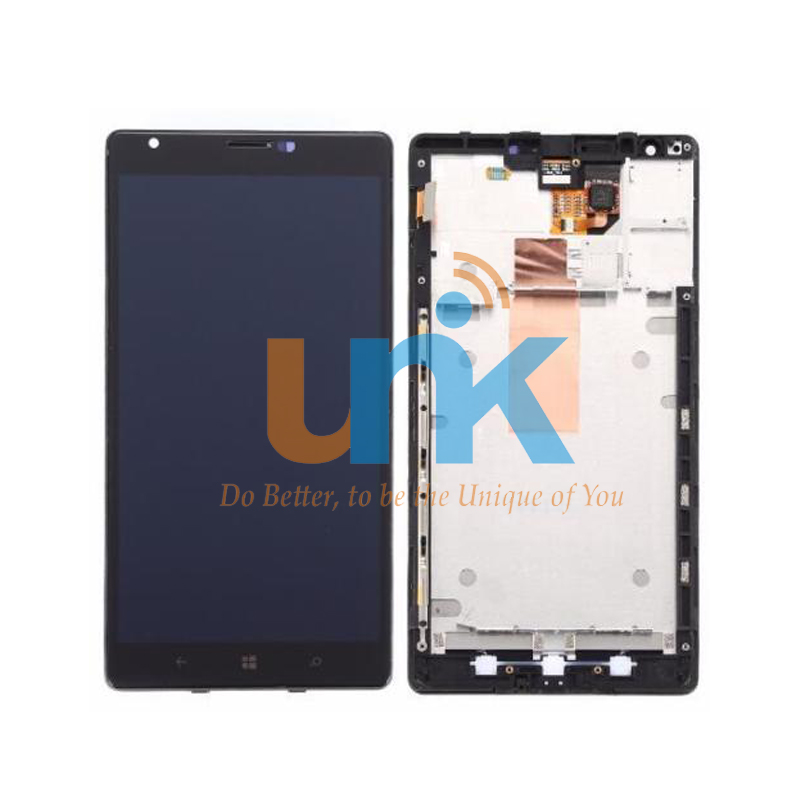 For Nokia Lumia 1520 LCD Display Touch Screen Digitizer Panel Assembly For Nokia 1520 LCD Display With Frame Free Shipping black lcd display touch screen digitizer assembly with bezel frame for nokia lumia 1520 replacements part free shipping