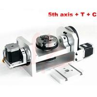 CNC 4th оси/5th оси (aixs оси вращения) с патрон для мини ЧПУ
