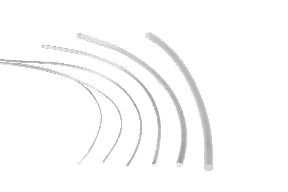 Image 3 - 5mX прозрачная сторона свечения пластик PMMA волоконно оптический кабель твердого сердцевина оптического кабеля диаметр 1,5 мм/2 мм/3 мм/4 мм/6 мм/8 мм Бесплатная доставка-in Оптоволоконные лампы from Лампы и освещение on