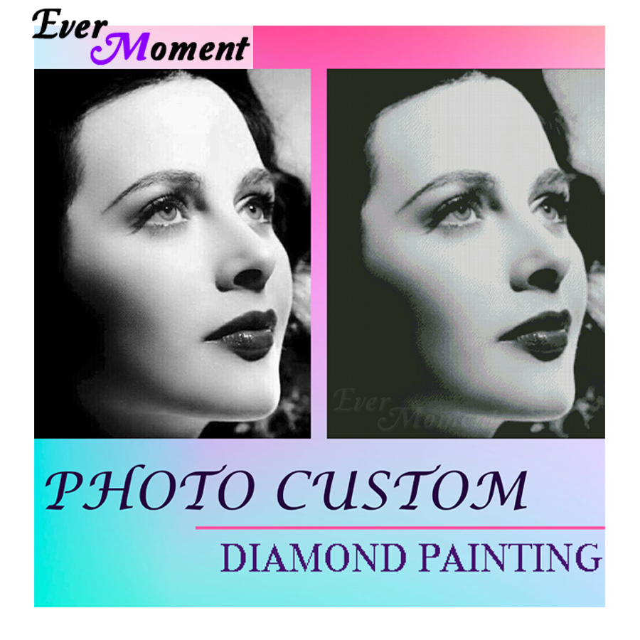Ever Moment Diamond Painting Photo Custom Full Square Cross Stitch Drill Wall Decoration Diamond Embroidery 5D DIY 3F2000
