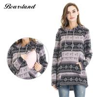 Maternity Nursing Tops Thickened Warming Long Sleeve Maternity Sweater Hoodies Fashion Comfortable Breastfeeding Winter Sweater