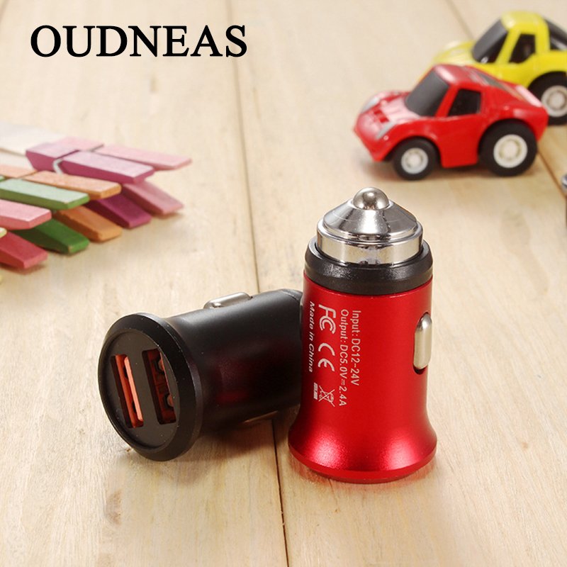 OUDNEAS Dual USB Car Charger 5V 3A For iPhone X 8 7 Plus Universal mobile phone USB Adapter For Samsung S6 S5 USB Cigar Socket