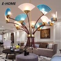Simple Atmosphere After The Modern LED Chandelier Creative Individual Fan Living Room Restaurant Restaurant Designer LED