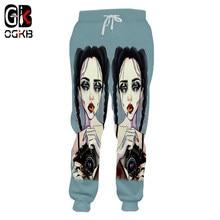 OGKB 2018 New Harajuk Unisex Hiphop Sportswear Track Pants Women/men Funny Print Smoking Camera Girl 3D Sweatpants Casual Jogger(China)