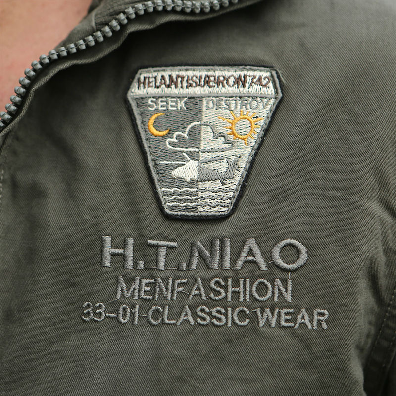 2016 Army Style Brand Clothing Military uniform Jacket Coat Mens Air Force Style Full Zip Bomber Jacket Cargo Jacket men #9B117