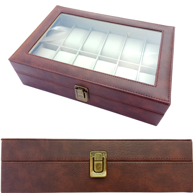 2019 New 12 Grids Watch Case Watch Boxes Casing for Hours Sheath for Hours Box f