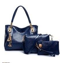 Bolso de las mujeres 2017 de la venta caliente 3 unids/set bolsas bolso del cruz-cuerpo bolsos de las mujeres de un hombro bolsa de mensajero bolsa de envío gratis