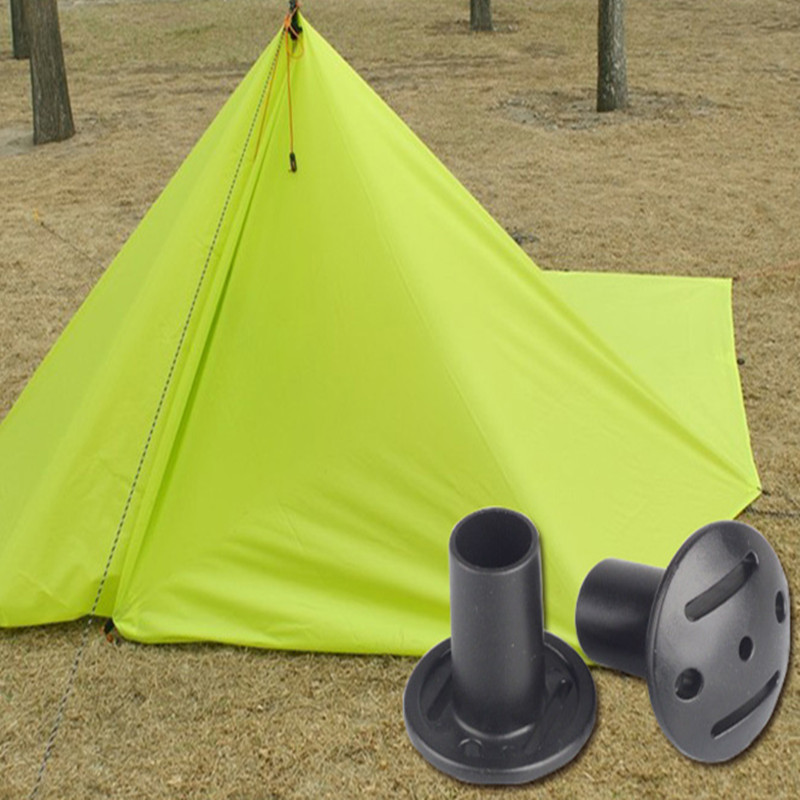 Outdoor Camping Tent Grip End Cap Puncture Proof Protective Cover Helmet Canopy Pole Hat