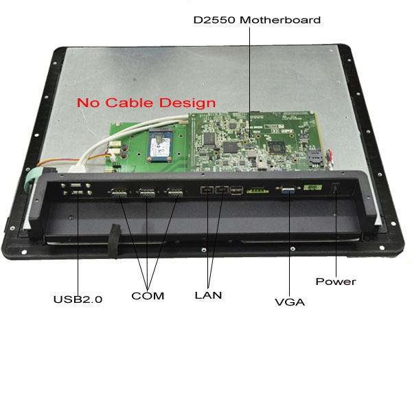 Hot sale Mini 15 Inch Touch Screen Industrial Panel PC with Intel ATOM D2550 CPU