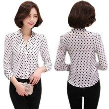 Chiffon Shirt Print Women's Fashion Blouse Shirts Long Sleeve 2018 Office Ladies Tops Female Clothing Elegant Blusas Femininas