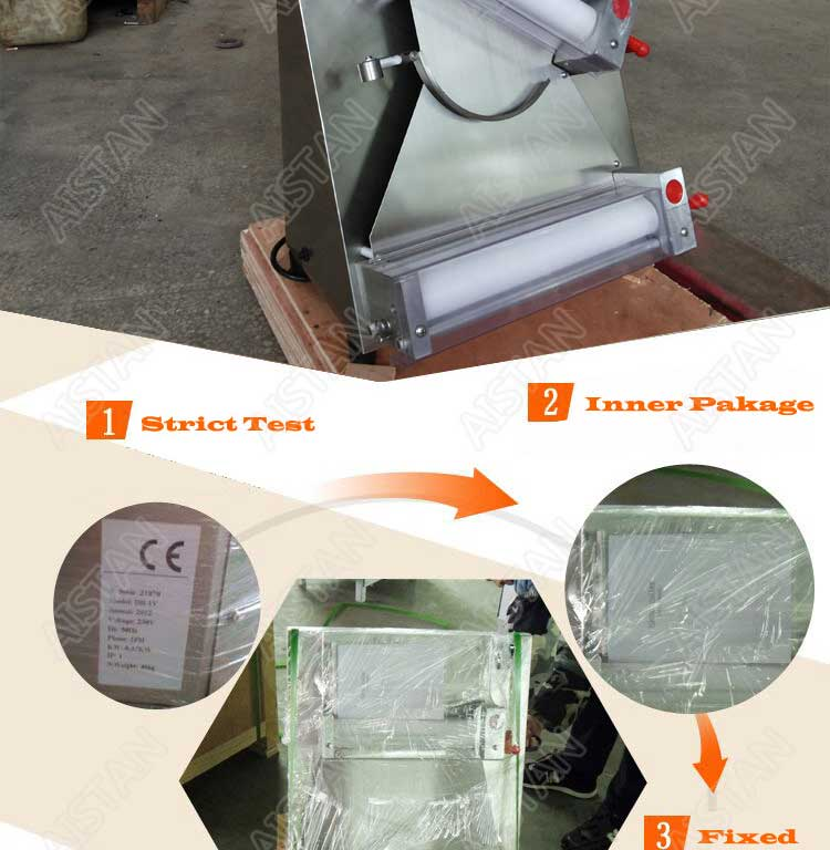 DR2A electric commercial stainless steel pizza dough roller/dough sheeter machine/dough press machine 11