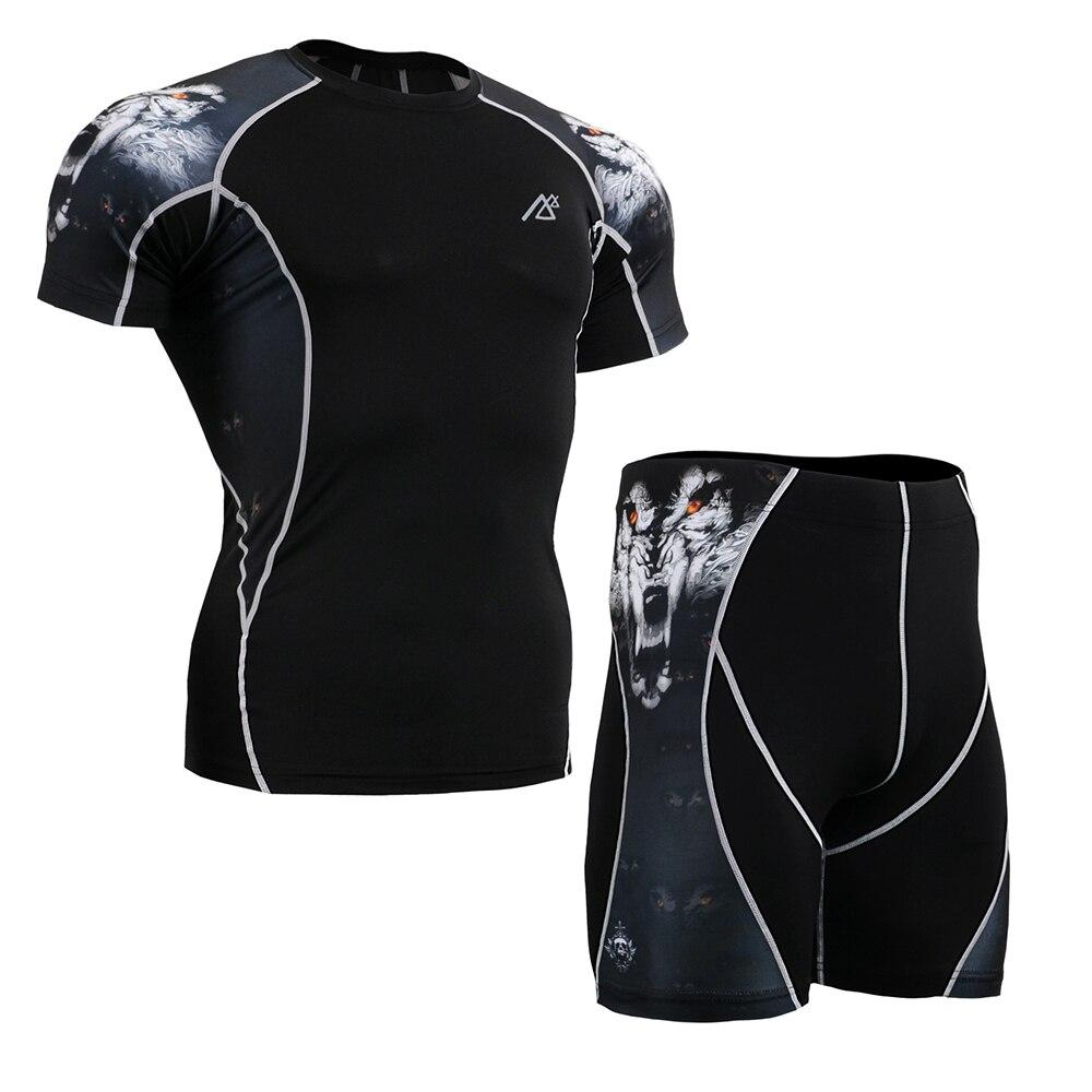 Leben auf der spur Neue männer Sport Unterwäsche Tragen Unter fließendem kurzarm engen Shorts t shirt Sportlich Engen Leggings Briefs