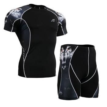 Life on track New Men's Sport Underwear Wear Under running short sleeved tight Shorts t-shirt Athletic Tight Leggings Briefs
