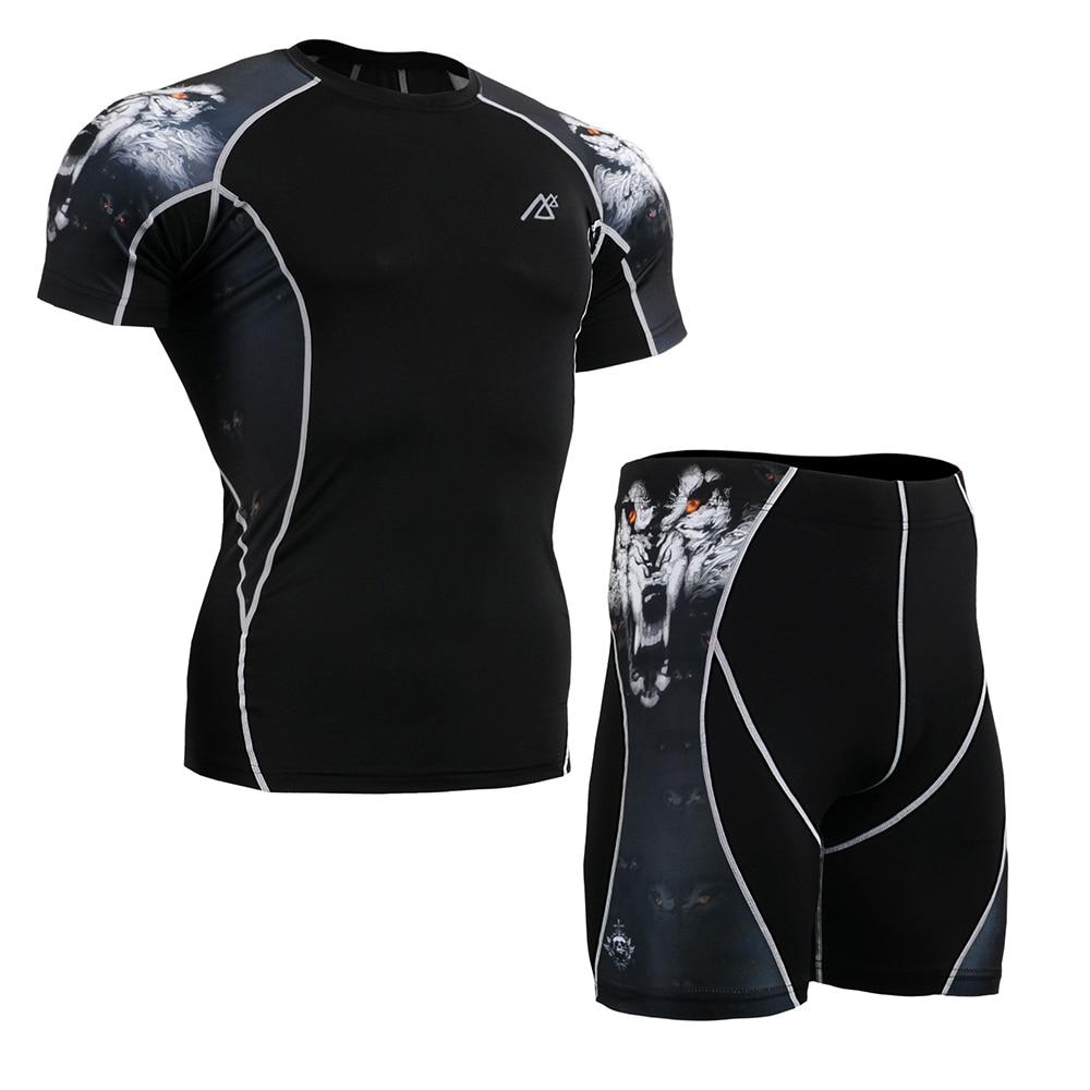 Life on track nouveau vêtement de sous vêtements de sport pour hommes sous la course short serré à manches courtes t shirt Leggings serrés athlétiques