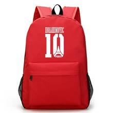 Ibrahimovic Canvas Backpack Boys Girls Foot Ball RuckSack Large Capacity School Bag For Teenagers Laptop Bag Mochila Escolar