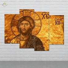 Traditional Jesus Man Picture And Poster Canvas Painting Modern Wall Art Print Pop Pictures For Living Room 4 PIECES