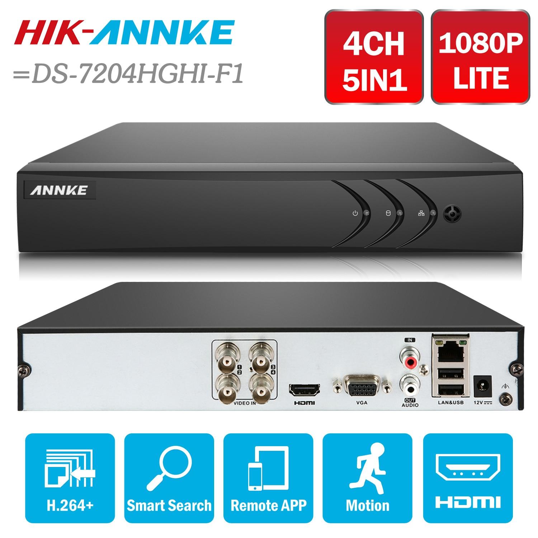ANNKE 4CH 5in1 TVI CVI AHD Network 1080N DVR HDMI H.264+ DVR Video Recorder for Home Security Camera System =HIK DS-7204HGHI-F1 new 4 ch channel h 264 home network 5 in 1 mini cctv 1080p hdmi ahd tvi cvi dvr onvif nvr p2p security video recorder systems