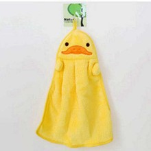 Cartoon Animal Towel Korean Version Of The Kitchen Cute Microfiber Coral Soft Velvet Embroidery Hanging Hand Used