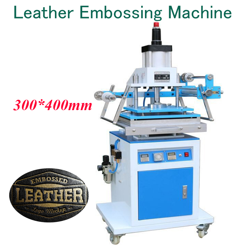купить 300*400mm Leather Embossing Machine Pneumatic Gold Hot Stamping Machine Foil Press Machine ZY-819M онлайн