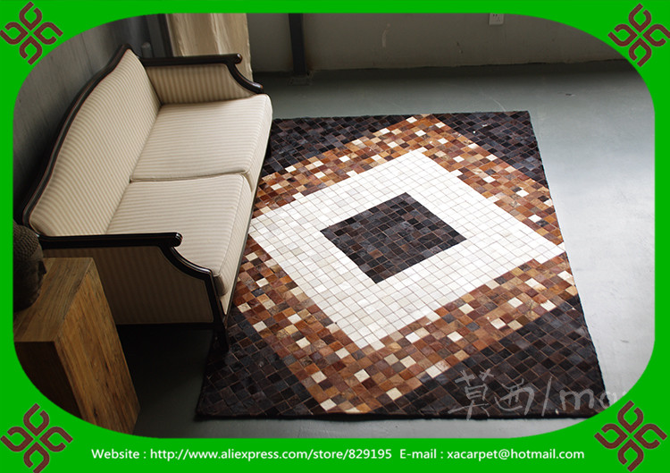 2017 Free Shipping 100% Natural Genuine Cowhide Patchwork Cowhide Rug